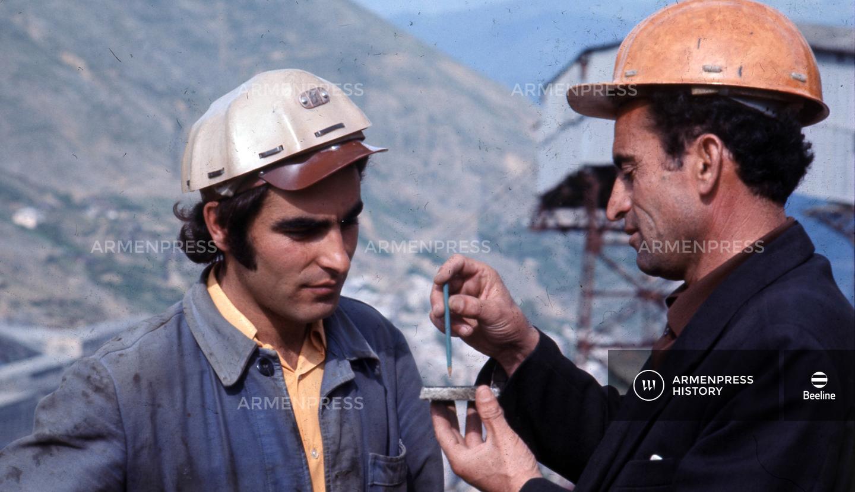 Զանգեզուրի պղնձամոլիբդենային հանքի աշխատակիցները