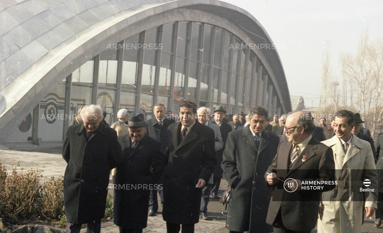 Խորհրդային Հայաստանի կազմավորման 60-ամյակի առիթով Հայաստան ժամանած հյուրերը
