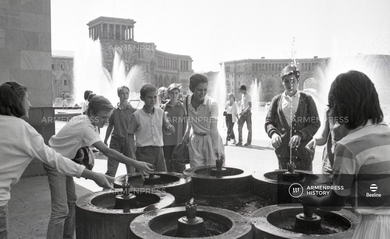 Ֆրանսիացի դպրոցականները Երևանում